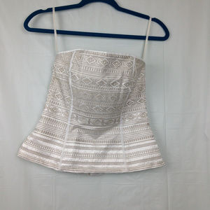 White House Black Market Strapless corset top